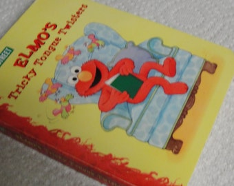 Sesame Street Elmo's Tricky Tongue Twisters Children's Book
