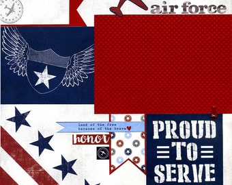 Premade Scrapbook Page - Air Force