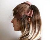ON SALE Fur Veil Hat - Choclate Brown Fur Bangs Cap