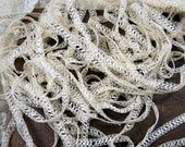 Antique Tape Lace Yardage Supply ... TWO YARDS ... Beautiful Very Narrow, Intricate, Fine Vintage Lace Trim ... LY160807
