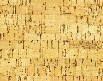"Natural Cork Fabric - 1 Yd x 27"" Package - EverSewn Environmentally Friendly"