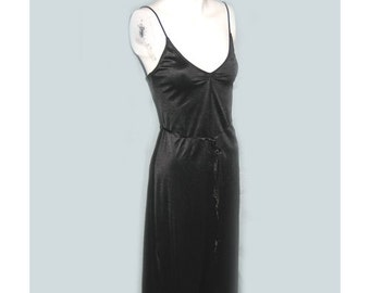 Vintage 1970's Black Ballet Style Danskin Dress