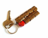 Wave Keychain in Bocote W...
