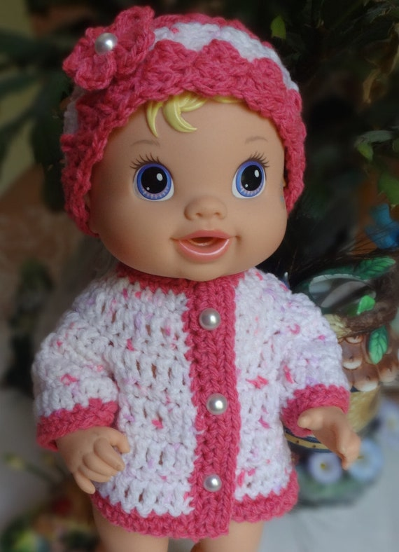 Crochet Hat Sweater Baby Alive Princess Or New Teeth 12 13