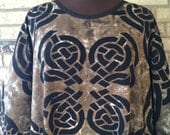 Extra Long Plus Size Cotton Celtic Caftan