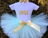 mint and gold 1st birthday outfit, first birthday outfit, first birthday girl outfit, gold one, girl birthday, mint and gold tutu
