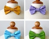 Cotton Bowtie for Boy, Toddler and Baby, Easter Spring Collection, Mint, Lavender, Blue, Grass Green Yellow Gold
