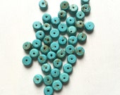 Turquoise Magnesite Smooth Rondelle Stones