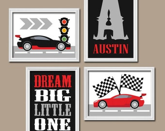 Elegant RACE CAR Wall Art   CANVAS Or Prints Cars Boy Nursery   Transportation  Theme   Dream
