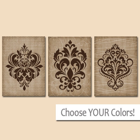 French Wall Art damask wall art canvas or prints french country artwork