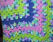 Sale--Lap or Child Afghan -Baby Afghan-Hand Crocheted-Animal Rescue--Free Shipping