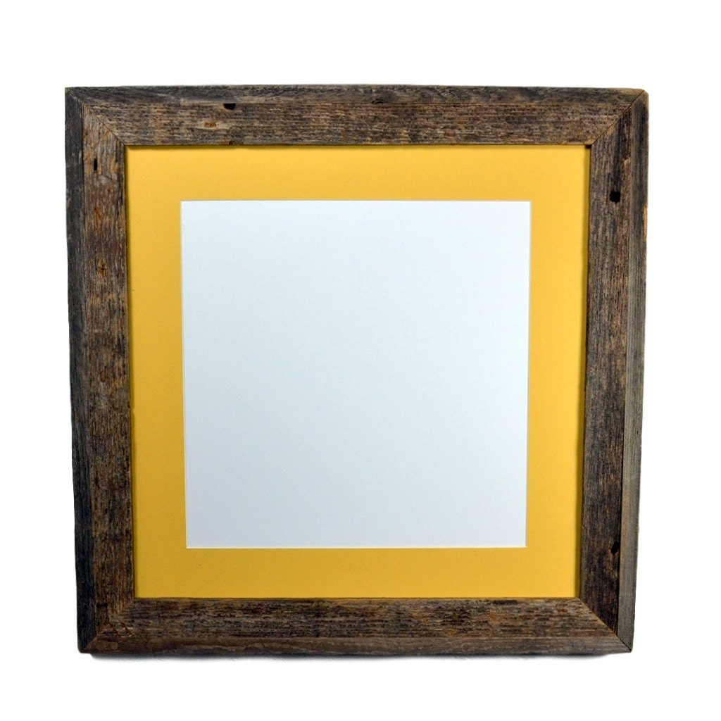 16 X 16 Gallery Style Repurposed Wood Frame With Mat By