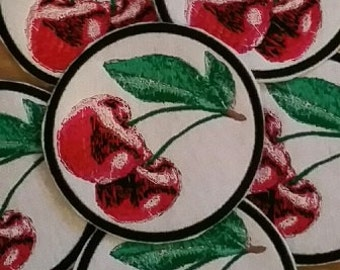 Stunning Cherry Embroidered  Iron/Glue/Sew On Patch