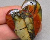 MEGA CLEARANCE SALE multicolored Sea Sediment jasper Chalcopyrite Gemstone Pendant