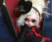 Private listing  for michelle deposit for Custom Blythe Vampire with Custom Made Doll Coffin