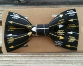 Black Gold Arrows Bow Tie Pet Collars Dog Bows