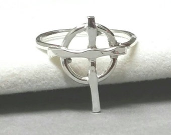 Celtic Cross Ring, Christian Cross, Silver Cross Ring, Faith Jewelry,  Size 5 Pinky Ring, Handcrafted by Maggie McMane Designs Ready to Ship