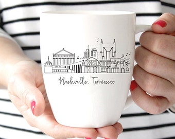 Nashville, Tennessee Skyline Mug