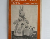 Vintage soft toys patterns, Dressed Soft Toys by Edith Moody, vintage toy pattern, vintage craft book, Dryad Press