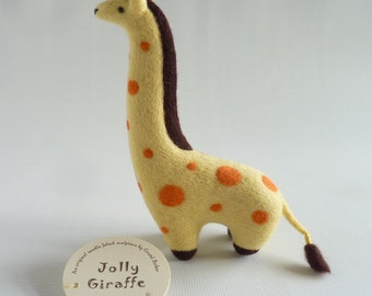 Needle felted giraffe, needle felt giraffe, needle felt animal, giraffe,  jungle animal, felted giraffe, jungle decor, safari, Gretel Parker