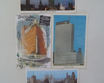 Vintage Chicago Postcards Set of 4