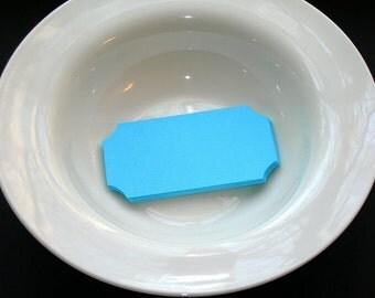 Die Cut Bracket Shapes or Labels Dark Aqua Blue