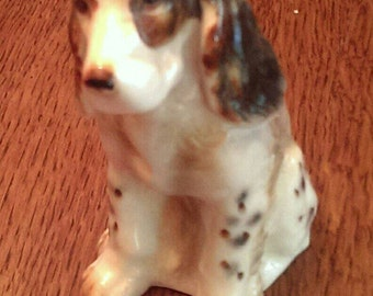 Adorable Little Vintage Spaniel Porcelain Dog Figurine Japan