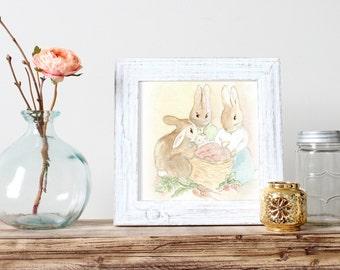 Nursery Art Print in Beatrix Potter Style