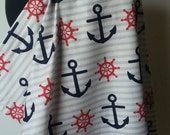 Nursing Cover- Navy Anchor Breastfeeding Cover