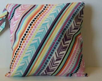 Wet Bag Cloth Diaper Wet Bag- Chevron Dots