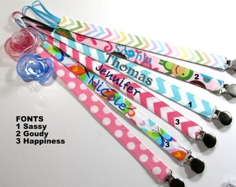 Personalized Pacifier Holder Clip, Teething Toy Ring Holder, Paci Clip, Baby Shower Gift, Pacifier Holder, Soothie Clip, Strap, Advent, Nuk