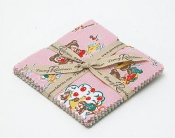 SALE 5 inch charm pack squares fabric APPLE FARM by Riley Blake/penny rose from Elea Lutz