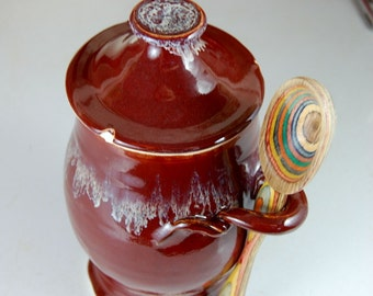 Small Kitchen Canister in Red Agate