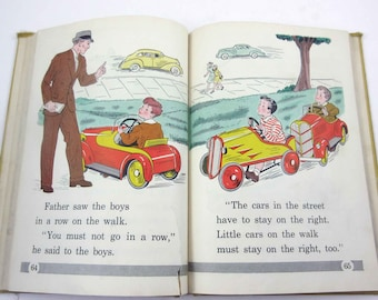 Happy Times Vintage 1930s Children's School Reader or Text Book by American Book Co.