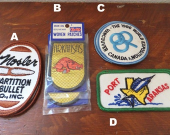 Vintage Patch Blitz Weinhard Beer Patch Beer Badge Blue Polar Bear Derby 1970's Patch Arkansas State Patch Port Aransas Texas Patch Bullet