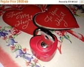 Valentines Day Sale Heart Shaped Padlock, Red Valentine Padlock with Key, You have the Key to my Heart, Unlock my Heart, Valentine's Day Gif