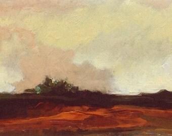 MINI 1618, 0il painting original landscape, miniature art, 100% charity donation, oil painting on cardboard