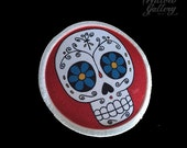 Sugar Skull Patch RED