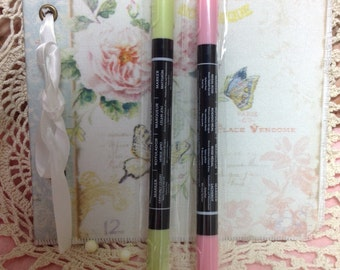 Retired Stampin Up markers Pink Marker Green Maker