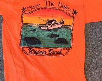 Vintage Virginia beach marijuana tshirt orange size large never worn with boat