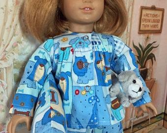18 inch Doll Clothes Sleep Tight Puppy Dog Pajamas Set