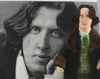 Oscar Wilde Doll- Miniature Art-  Classic Literature-  Author and Writer - Dorian Gray