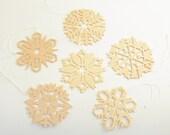 Vintage Wood Ornaments Christmas Ornaments Wood Snowflakes Erzgebirge Germany Original Box Snowflake Ornaments