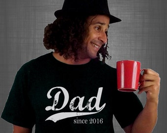 Dad since ANY year, screen print t-shirt, gift for dad, personalized dad shirt, dad to be gift, new daddy, Christmas gift, graphic tee