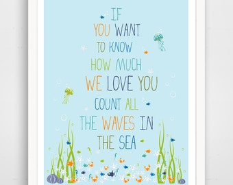 Children's Wall Art / Nursery Decor if you want to know how much WE love you...