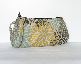 Pleated Wristlet Zipper Pouch // Clutch - Blooms Laken Collins
