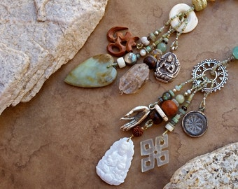 SALE! +Tara + Kwan Yin Spirit Beads + Meditation and Prayer + Buddhist Symbols + Peace and Tranquility + Centering + Divine Feminine
