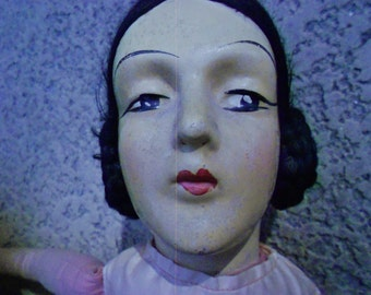 Doll/Boudoir/ Composition/1920s/Antique
