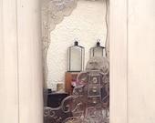 Bathroom mirror, lighthouse design.