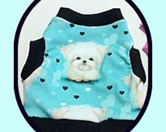 Dog Clothing Designer Spoonflower Fabric Shirt Boys Girls to Order XXSmall to  Size Medium